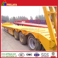 China manufacturer heavy duty 3 axles lowboy trailer used for excavator