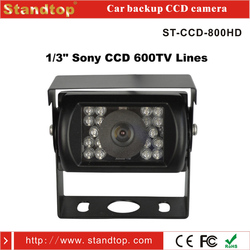 High resolution waterproof sony ccd car rear view camera with RCA/4 PIN connector
