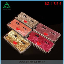 Small sexy lips soft tpu case for iphone 6 bling soft case