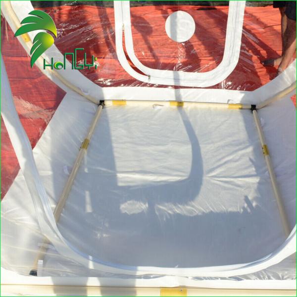 Transparent inflatable bubble tent