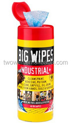 industrial wet tissue cleans paint adhesive and PU foam