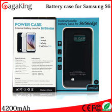 Power case Newest product 4200mah Cell phone charger case for Samsung galaxy S6 Battery case