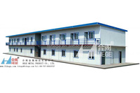 Flat Roof Modular 3 bedroom prefab house