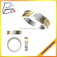 Yuanyi jewelry jewelry ring exotic unique decorative delicate photo silver ring men plain gold ring