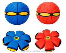 phlat UFO Flat Ball Toys Fancy Soft Rubber Deformed Kids Outdoor Toys For Children Spiderman Magic Sports Ball Red/Blue