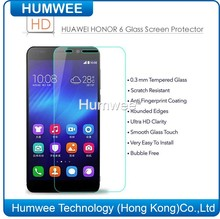 Newest Factory price Mobile Phone 0.3mm Tempered Glass screen Protector for Huawei Honor 6