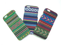 Cellphone PC Case for iphone 6 with Card Insert Hole, Ethnic Style Clothes Plastic Cover Case for iphone
