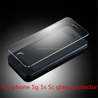Hot selling 0.2mm top quality For apple iphone 5 5s 5c Explosion-Proof tempered glass screen protector film 9H tempered glass