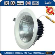 AC 85-265V CRI Ra>90 120lm/W aluminium housing/ reflector 30W 20W 10W cob led down light