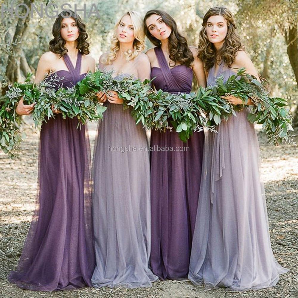 Long Bridesmaid Dress Two Color Made To Order Bridesmaid Dresses ...