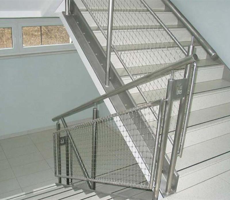 Multifonctionnel en acier inoxydable rampe d 39 escalier net treillis d 39 - Escalier cable acier ...
