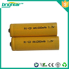 Ni-Cd AA 1.2v rechargeable battery for toys, flashlight