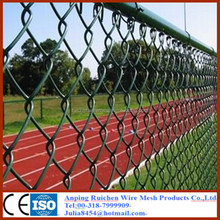 2015 hot sale chain link wire mesh PVC Coated Chain Link Fence from Anping factory