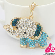New Novelty Items Fashion Cute Rhinestone Alloy Animal Elephant Acrylic Keychains Wholesale
