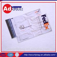 plastic die cut bag/plastic bag with adhesive tape/courier satchel printed