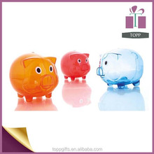 Promotion Cheap Plastic House Piggy bank,Pig Money Bank,Coin bank