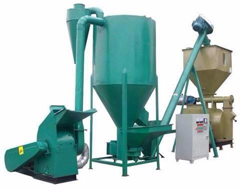 vertical paddle mixer + Ring die pellet machine.jpg