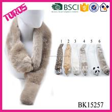 Animal fake fur dog scarf