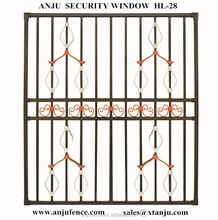 New design of decorative wrought iron window grill with good quality