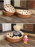 customized bedroom of pet dog , cat, teddy little pet with straw wicker manufacturers selling