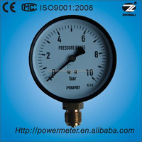 Suzhou Power Meter 4 inch bourdon type pressure gauge with scale 10 bar