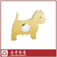 Solid wood decorative puppy desk clock