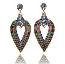 High Quality China Earring Zinc Alloy In Bronze Long Drop Winter Color Earring
