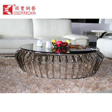 2015 stainless steel modern coffee table