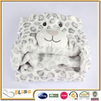 High quaility various kinds animal print of coral fleece baby blanket 3d baby cloak