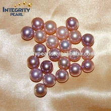 9-10mm purple color AAA high quality cultured loose pearl