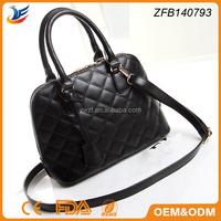 fashion lady shoulder bag cross pattern sling shell bag
