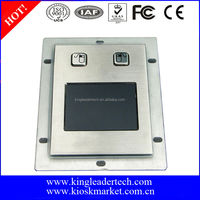 Panel mount waterproof rugged metal touchpad with 2 buttons