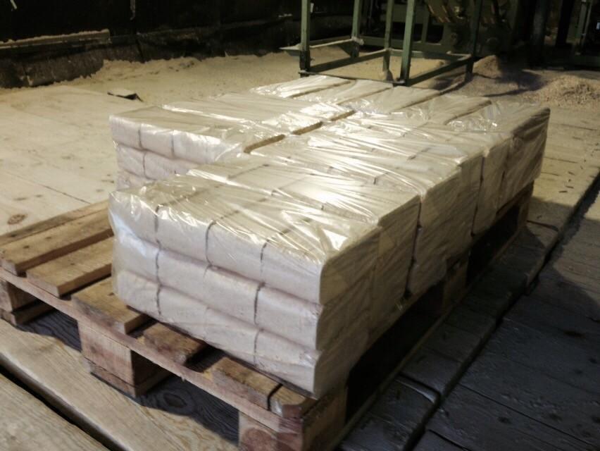 Pine sawdust brick