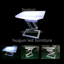 adjustable plastic led table make in china
