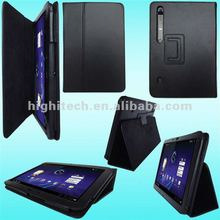 Leather Case for Motorola Xoom tablet Premium folding cover
