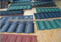 Colorful stone chip coated steel roof tile in Guangzhou&Yiwu
