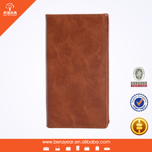 Hot sell fashion oil waxed leather case Universal leather case for phone 6 with card slots