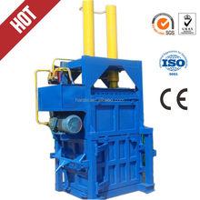 Hydraulic driven recycling vertical baler equipment /wool baling press machine/vertical waste paper plastic film baler