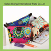 Factory price qualified Nylon cosmetic bag with flower printing