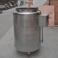sanitary stainless steel electric heating storage tank with cover