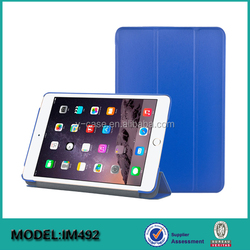 Hot selling Slim-Fit Folio Smart cover Case with Back Cover for iPad mini 4 tablet case