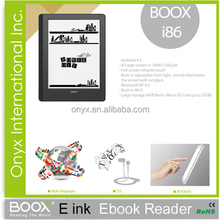 import China ebook reader ONYX BOOX i86 8 inch wifi front light capacitive touch