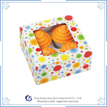 6 point glued flat packed paper cake box