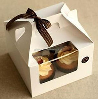 Cake Box with Handle for Customized Cupcake Gift Box