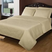cotton plain dye stone color quilt thin bedspread set