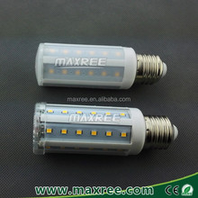 Spain market! 8W led lamp corn milky or clear PC cover 85-265V 360 degree led corn bulb,led corn light bulb, e27 corn led