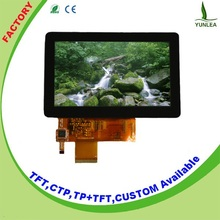 """2015 hot selling 480x272 dots 4.3"""" glass touch screen displays"""
