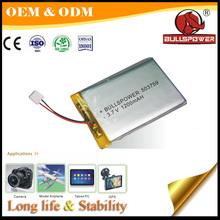 3.7v li-ion polymer battery 1100mah 093450 rechargeable