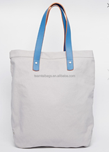 Cotton Canvas Tote Bag/Canvas Tote Bag Leather Handle