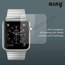 Ainy 2015 new products factory supply normal ultra transparent screen protector for Apple Watch